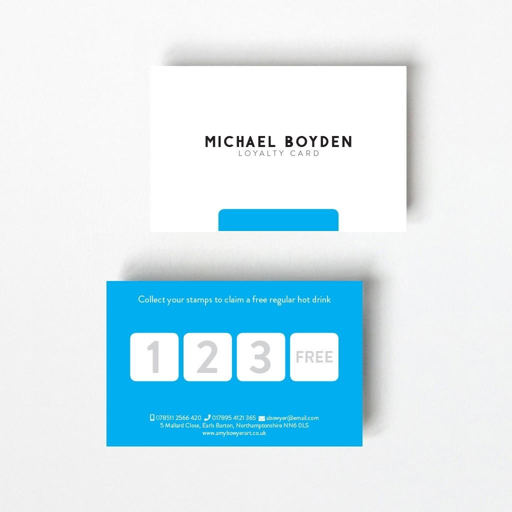 Minimal Loyalty Card - 4 Boxes