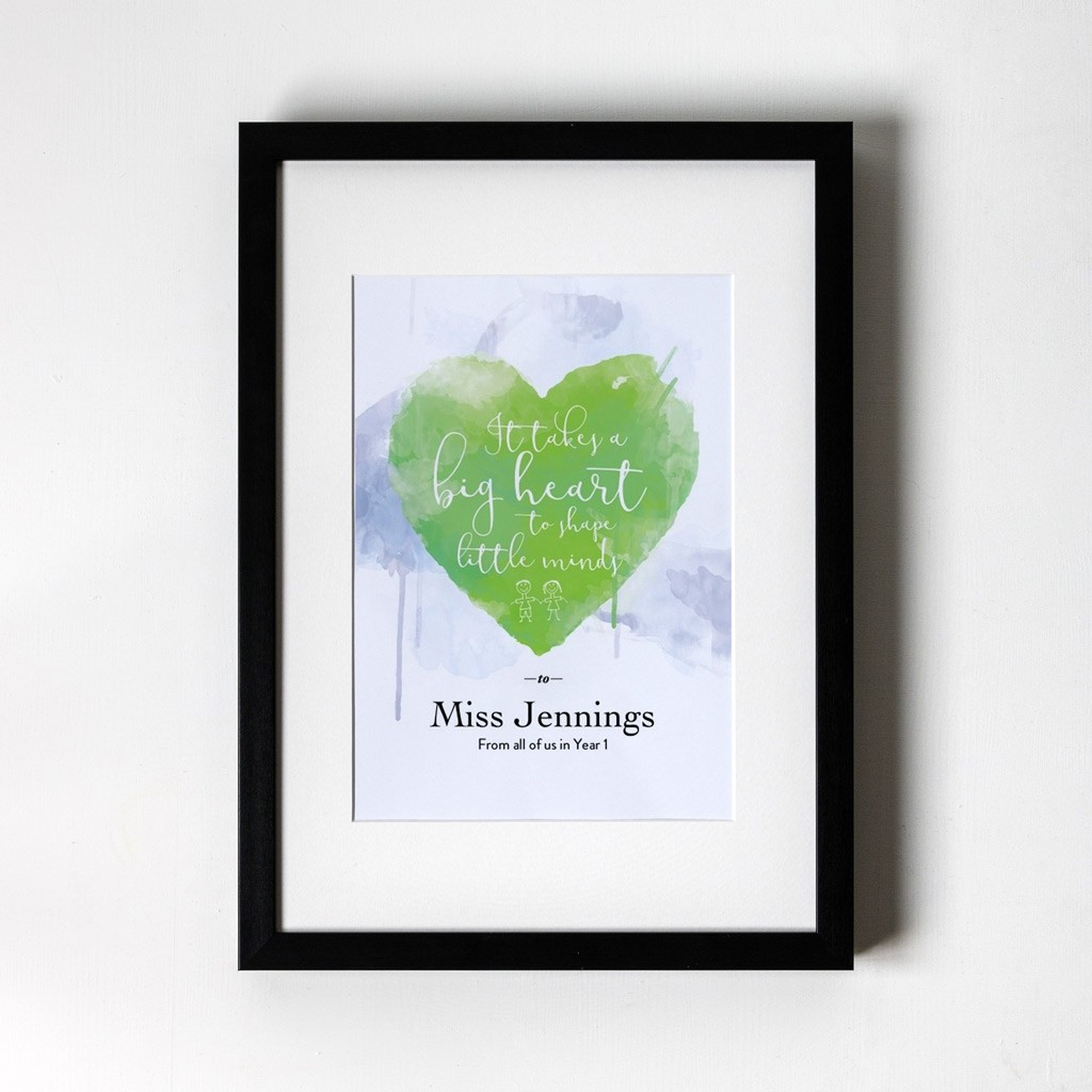 Big Heart - Personalised Art Print