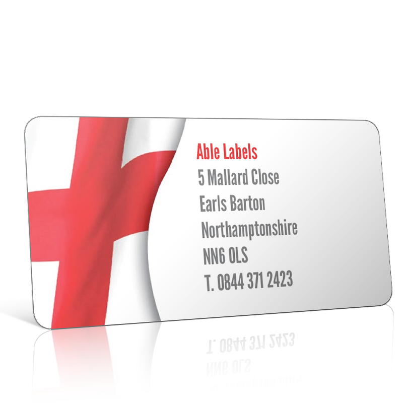 Pre Designed St. Georges Flag Address Label on A4 Sheets