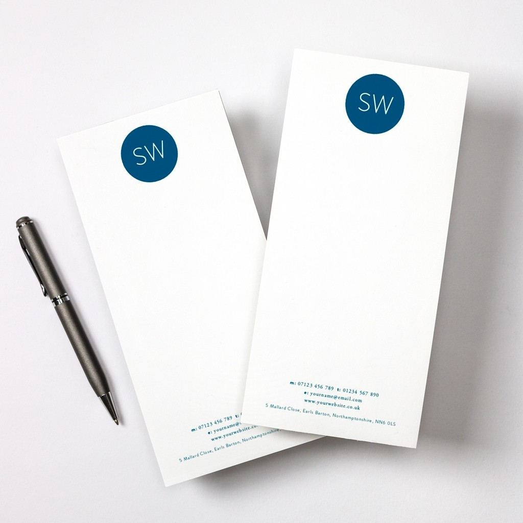 Monogram Tear Off Notepad