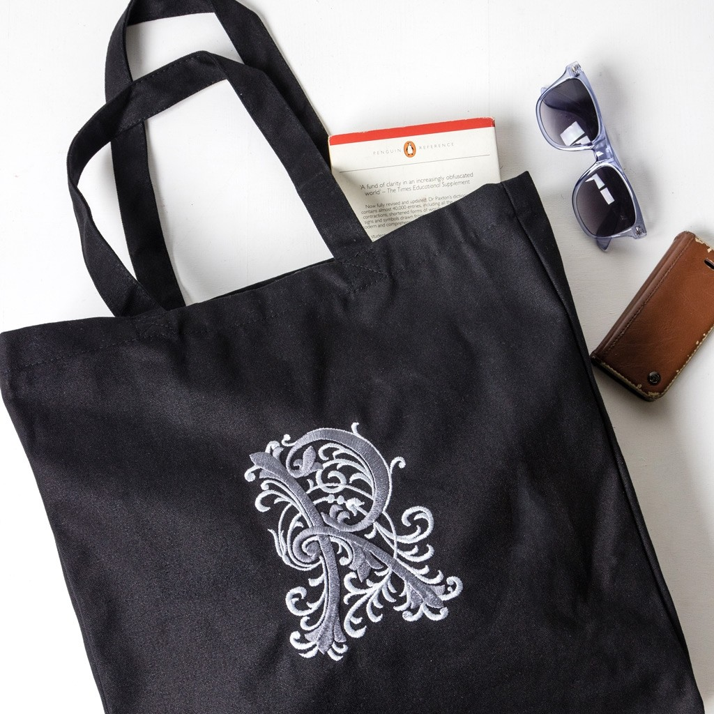 Personalised Embroidered Monogram Initial Tote Bag