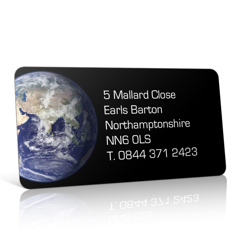Pre Designed Globe/Planet Earth Address Label on A4 Sheets