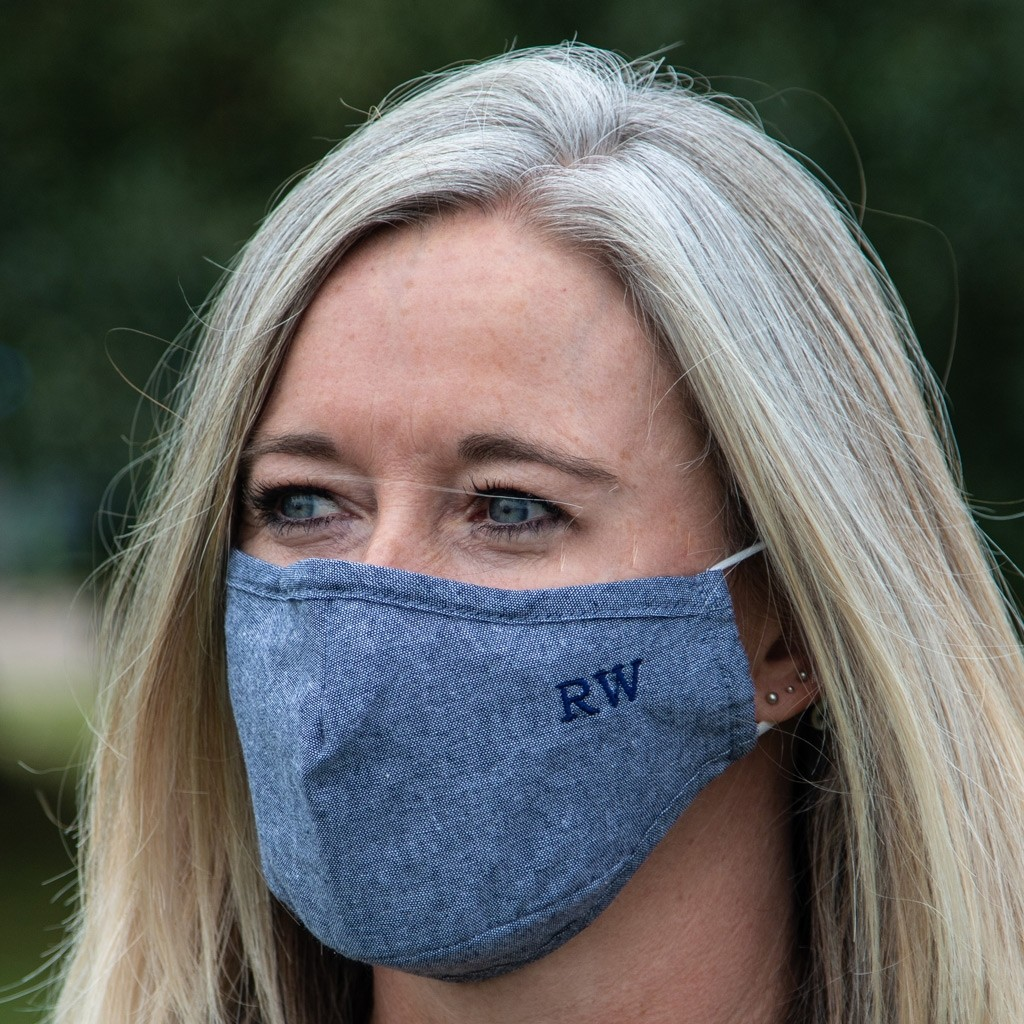 Personalised Embroidered 100% Cotton Face Mask