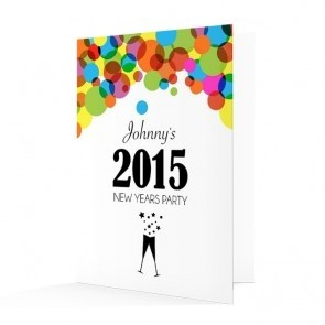 New Year's Invitation Card - Colourful Circles