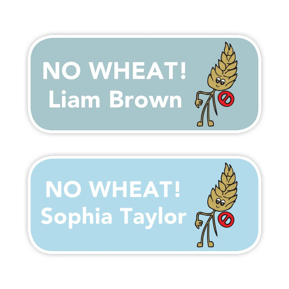 No Wheat - Allergy Labels - Style 1