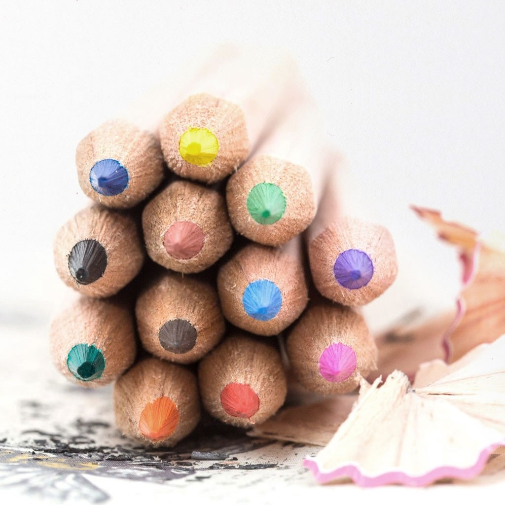 Personalised Natural Wood Colouring Pencils