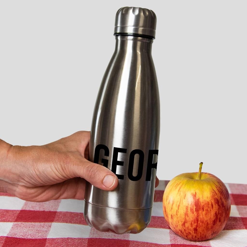 Personalised Aluminium Insulated Drink Bottle 350ml