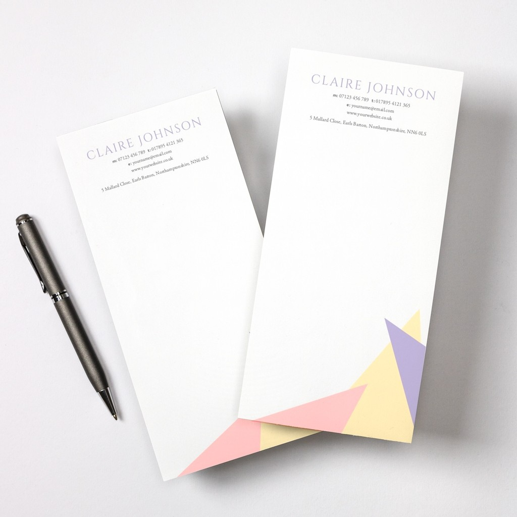 Pastel Tear Off Notepad