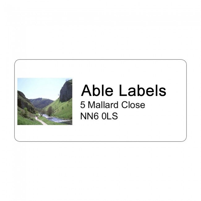 Photo Left & Text Address Label A4 Sheets