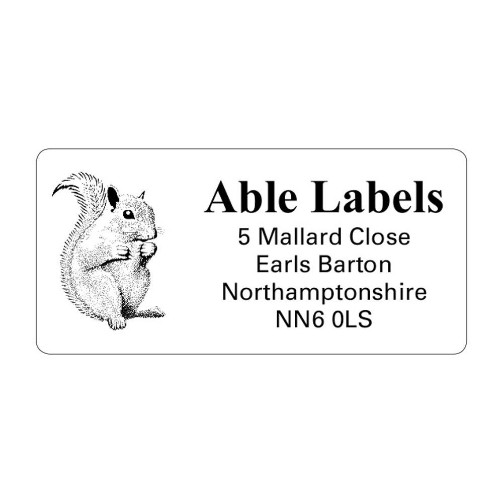 Clear Picture Cut Labels