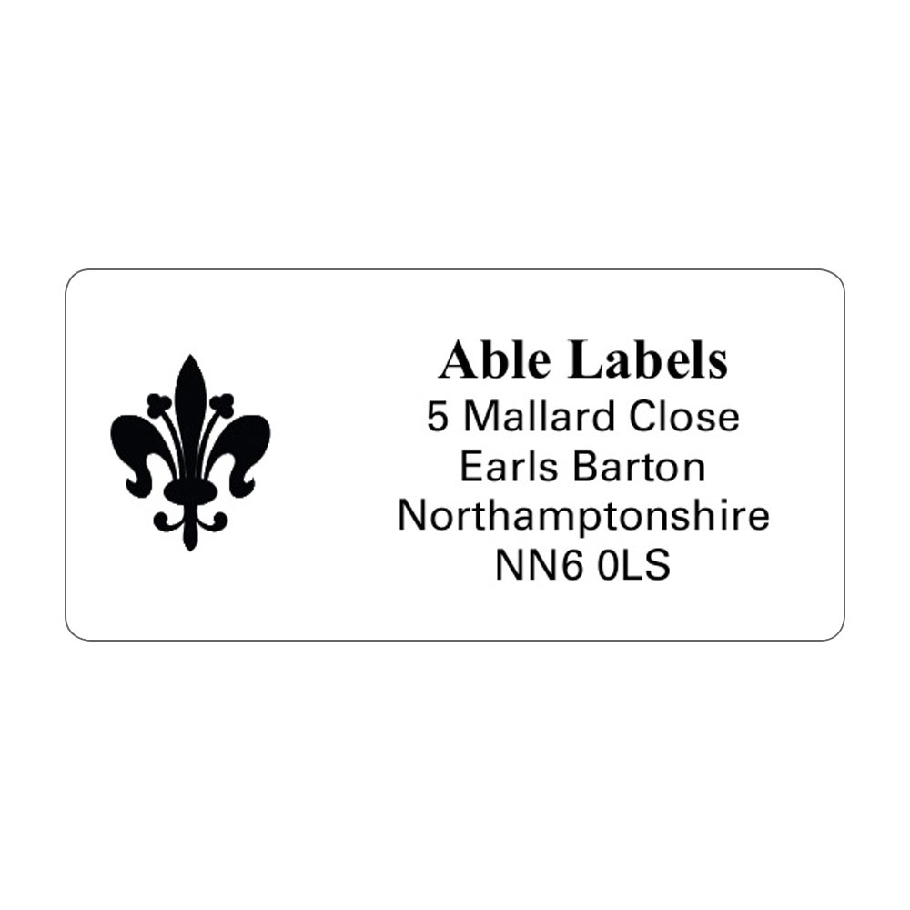 White Picture Cut Address Labels