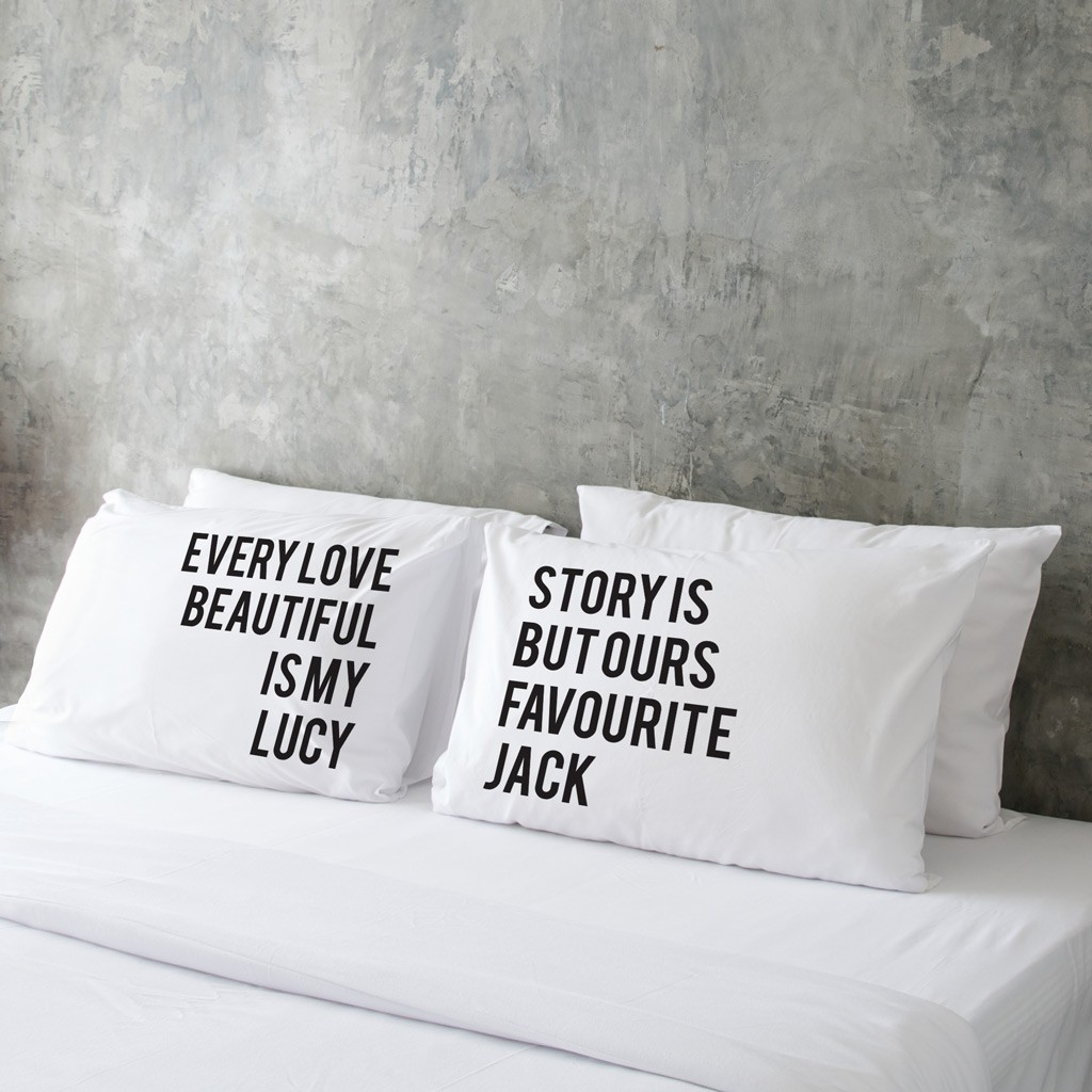 Valentine's Day Pillow Case (Pair) - Love Story
