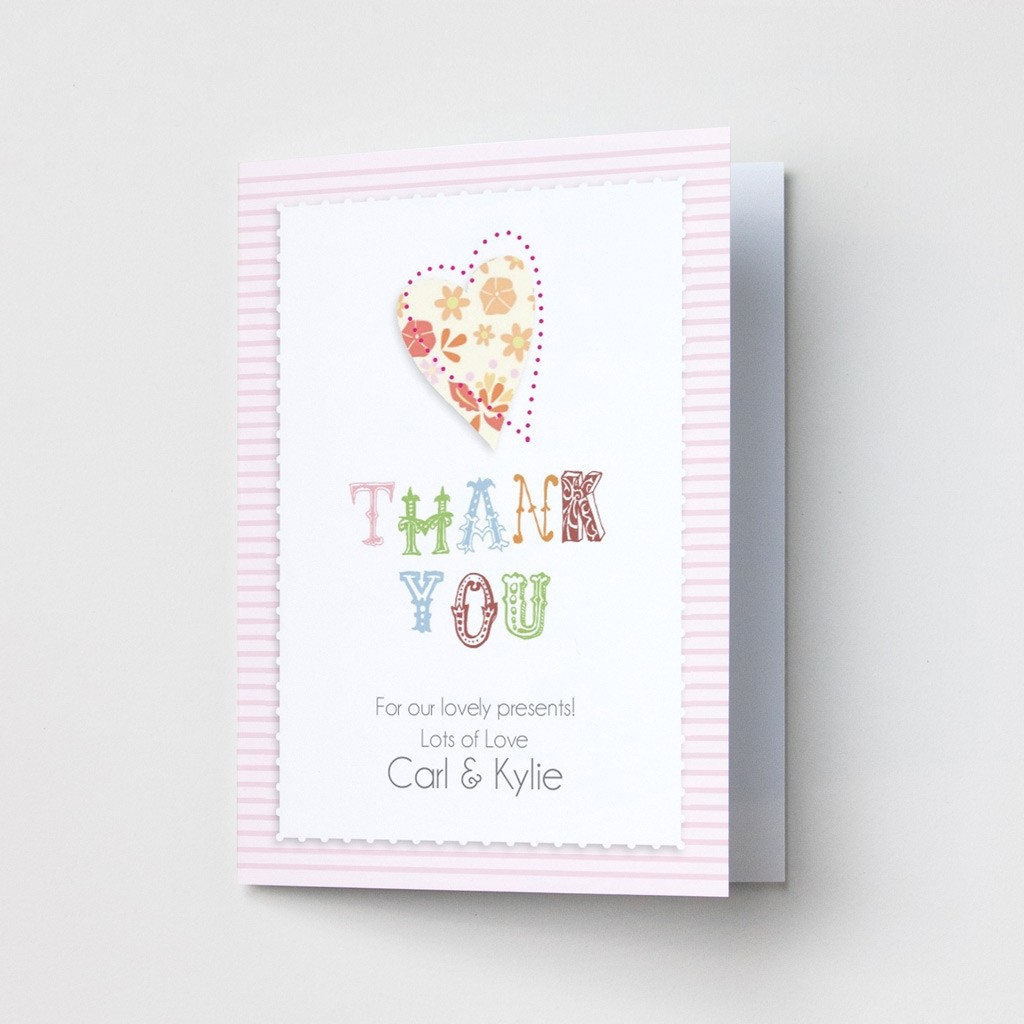 Pink Stripe - Thank You Card