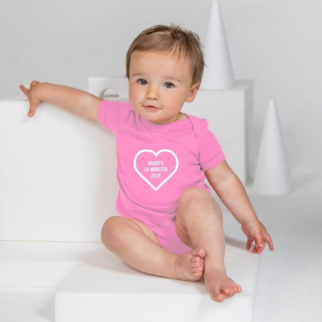 Personalised Baby Grow - Heart Outline