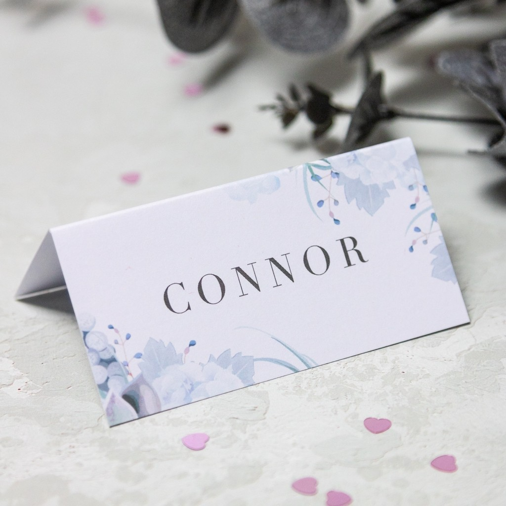 Pastel Floral Table Place Cards