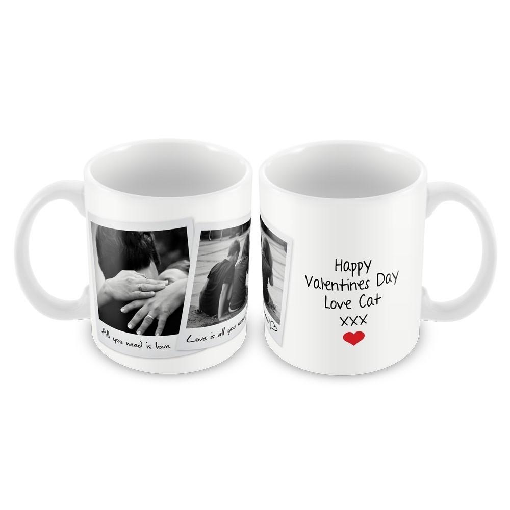 Retro style photo mug (two photos)