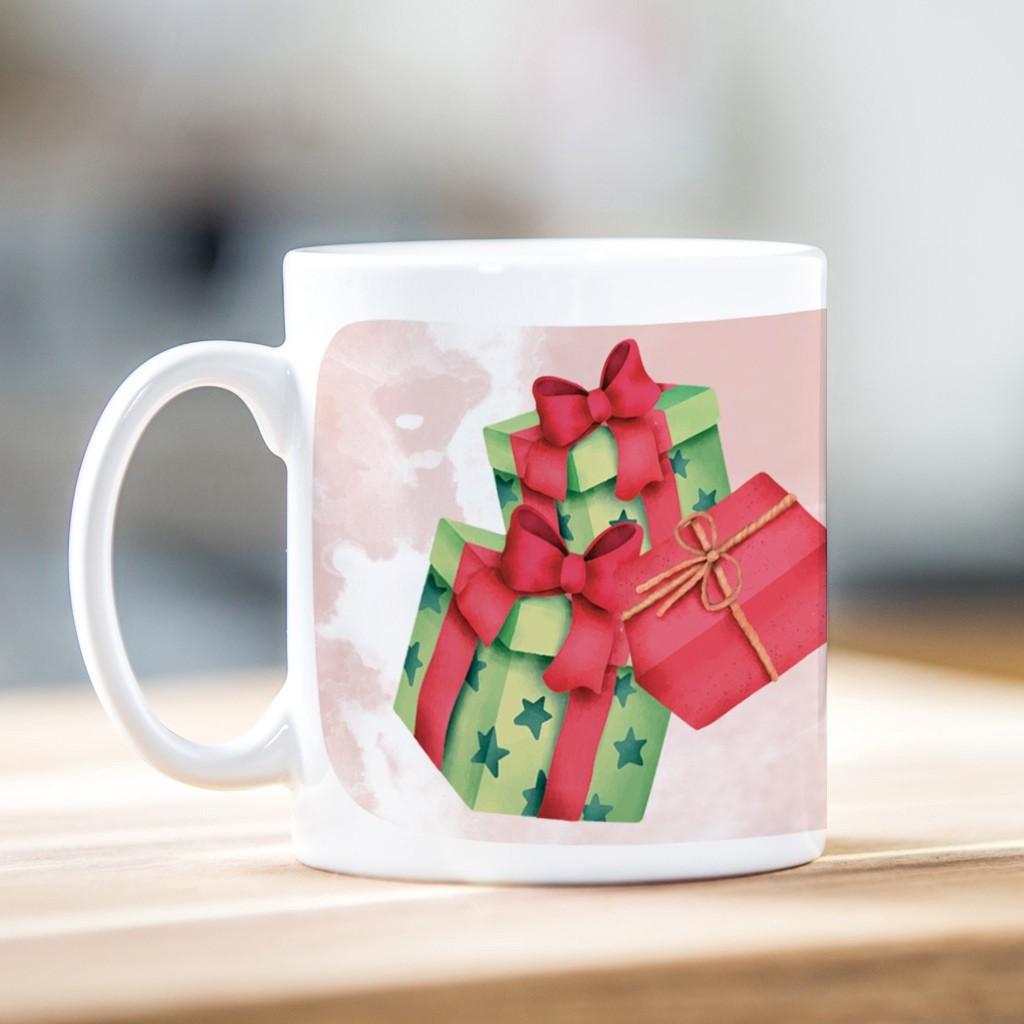 Watercolour Presents Christmas Mug
