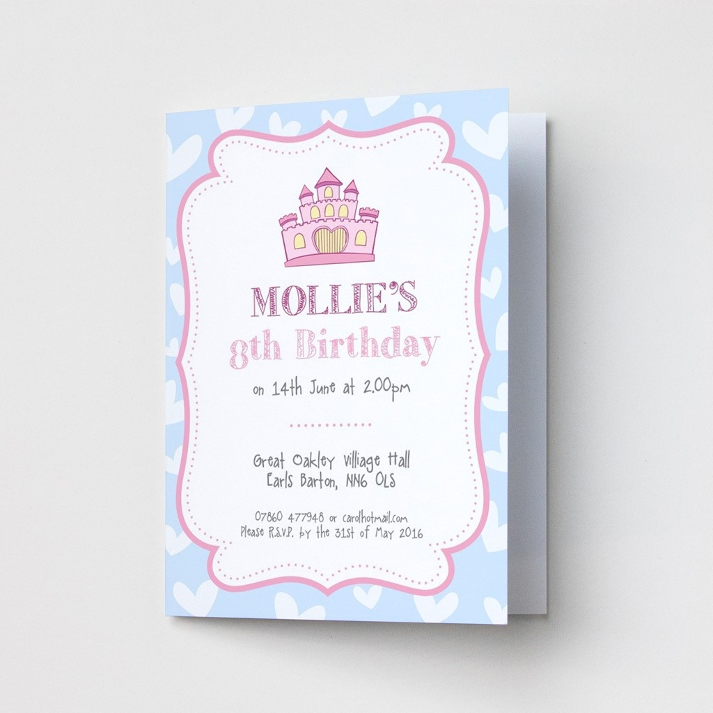 Princess Castle - Party Invitations