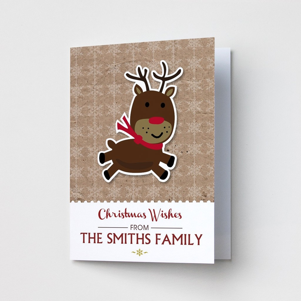 Premium Christmas Cards - Reindeer Design