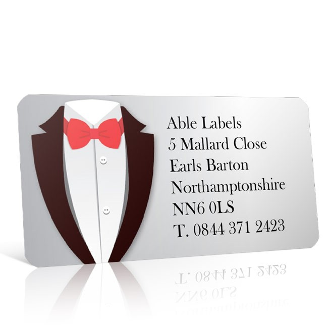 Pre Designed Tuxedo Address Label on A4 Sheets