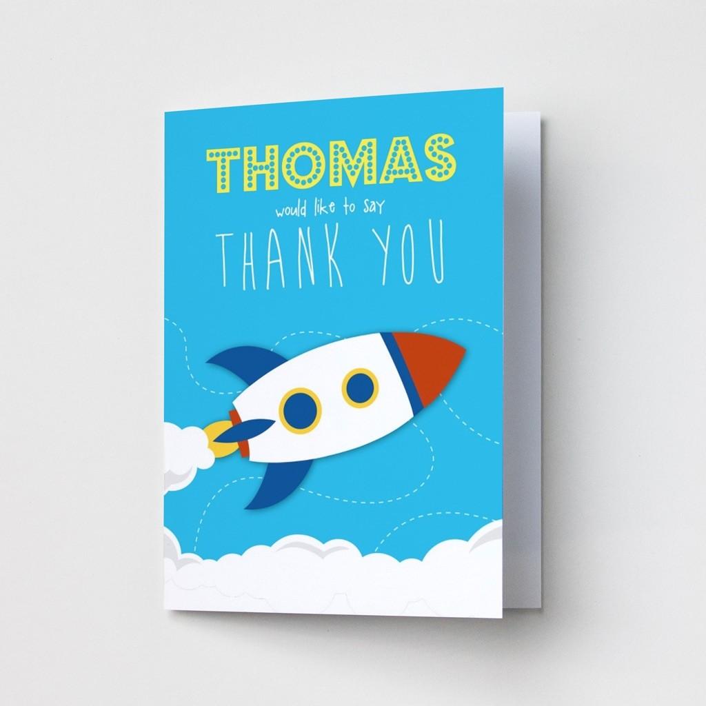 Children's Rocket - Thank You Cards