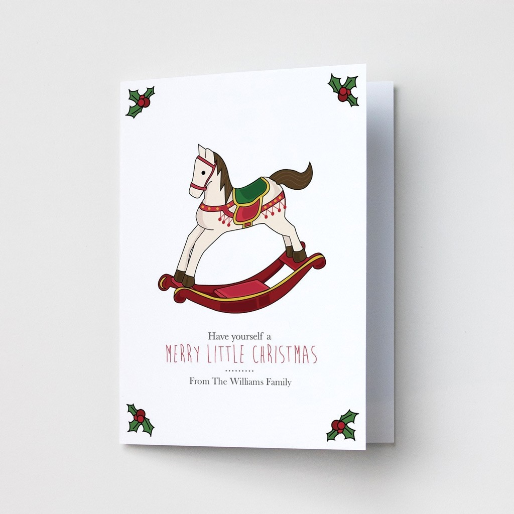 Premium Christmas Cards - Rocking Horse