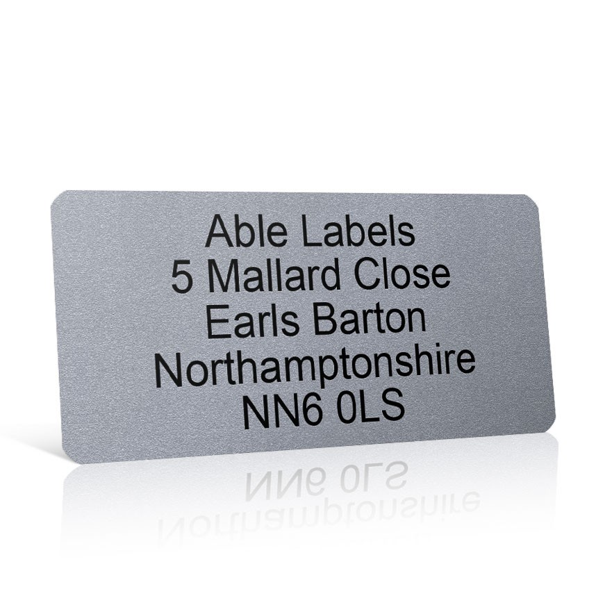 Silver Address Label on A4 Sheets