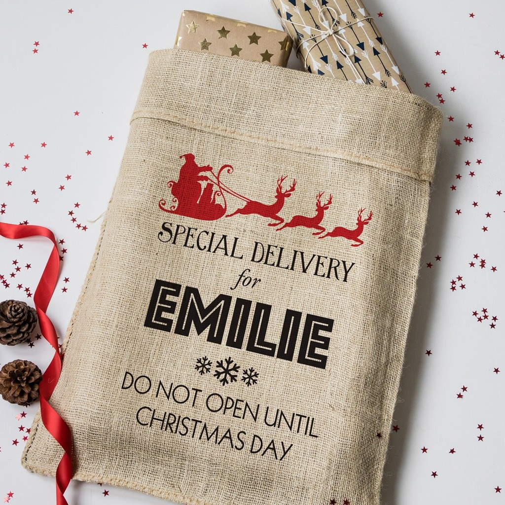 Personalised Christmas Special Delivery Hessian Sack
