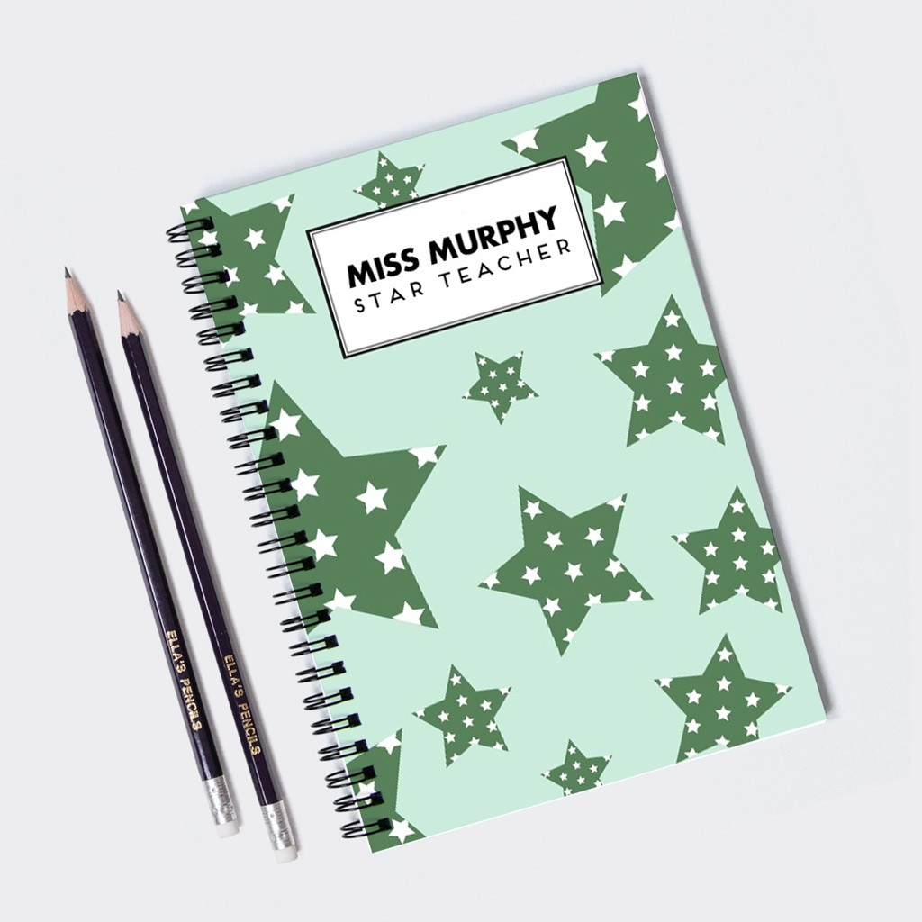 Star Pattern Teacher Personalised Notebook