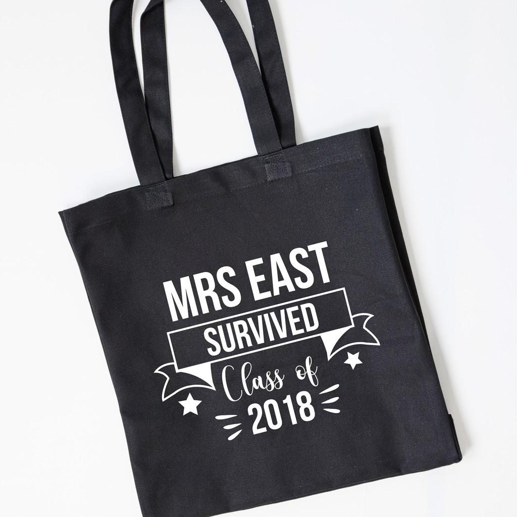 Teacher Gift Tote Bag - Survived