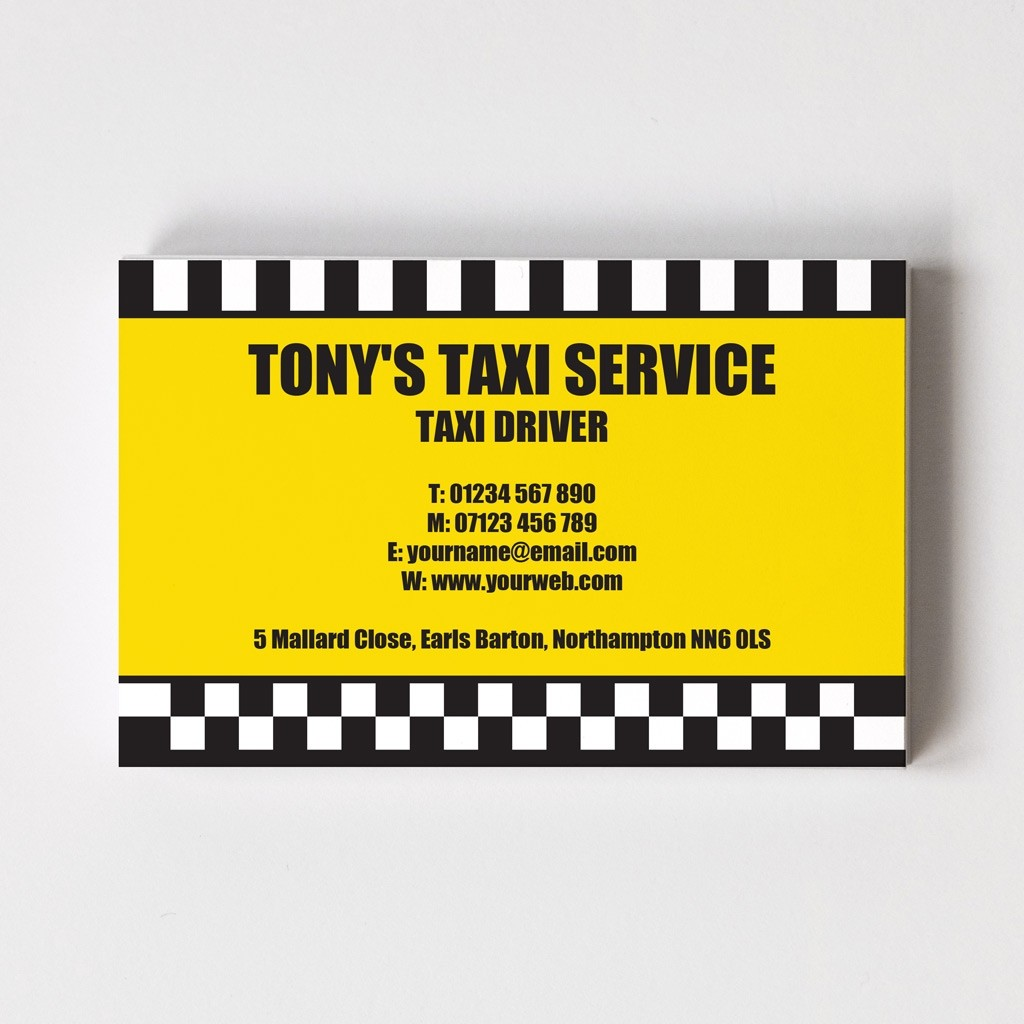 Taxi Driver Templated Business Card 2