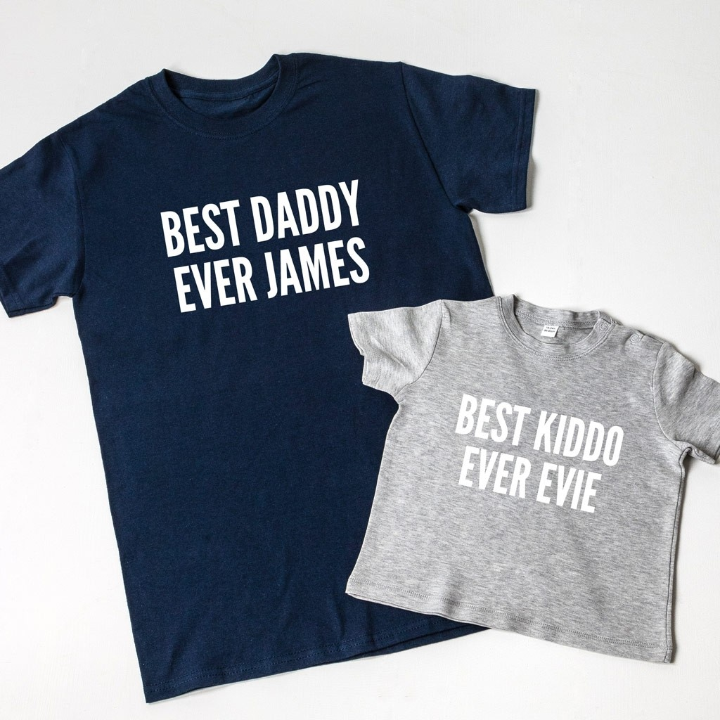 Personalised Best Ever T-Shirt Set