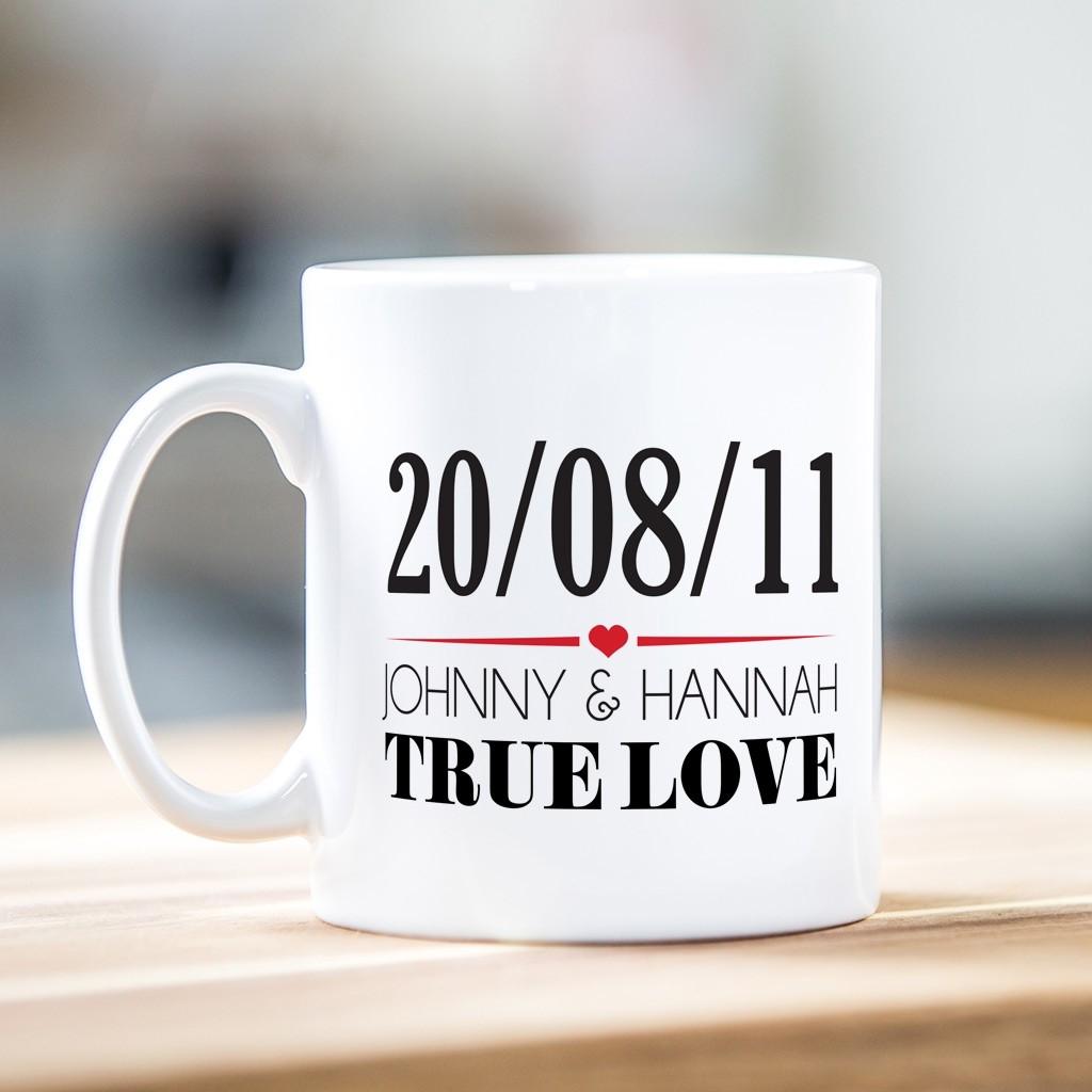 True Love with Date Mug