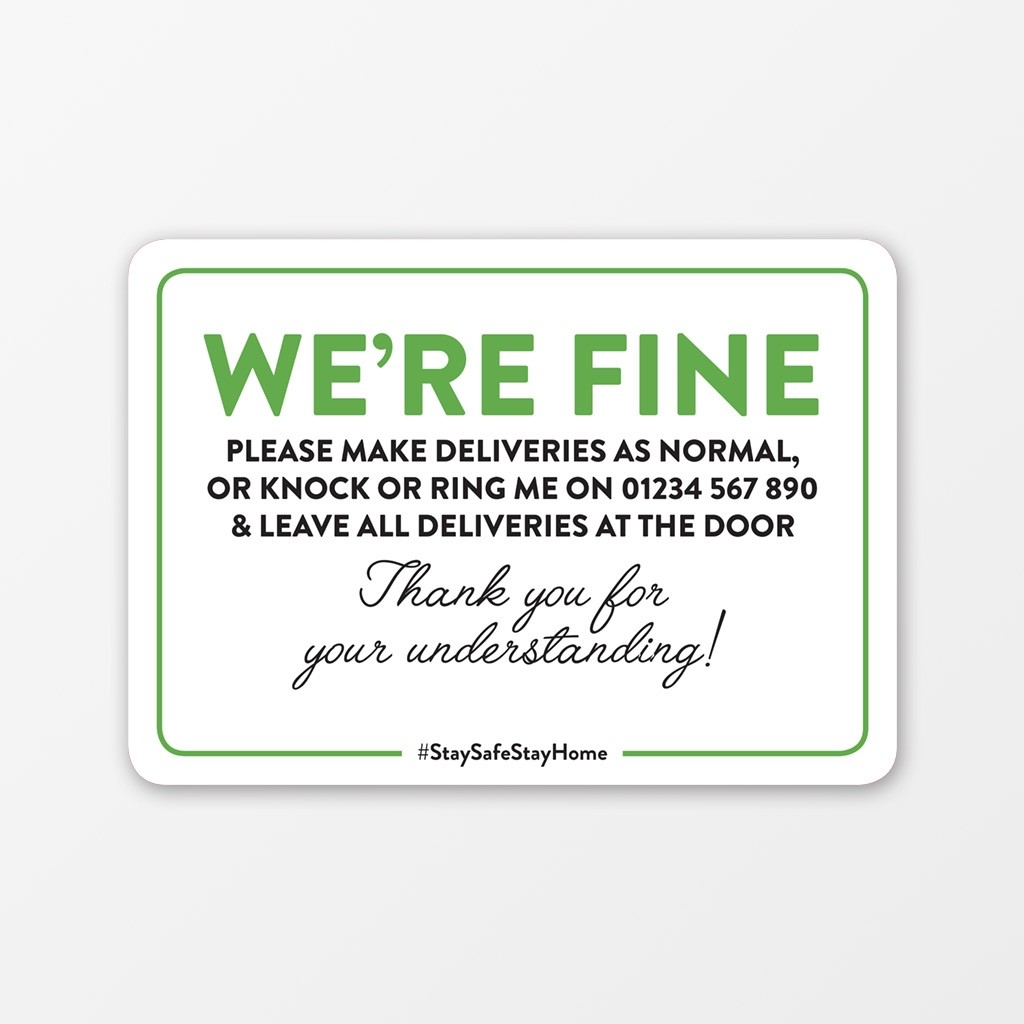 We're Fine Window Cling