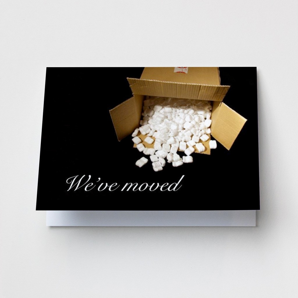 Open Box - Change of Address Cards