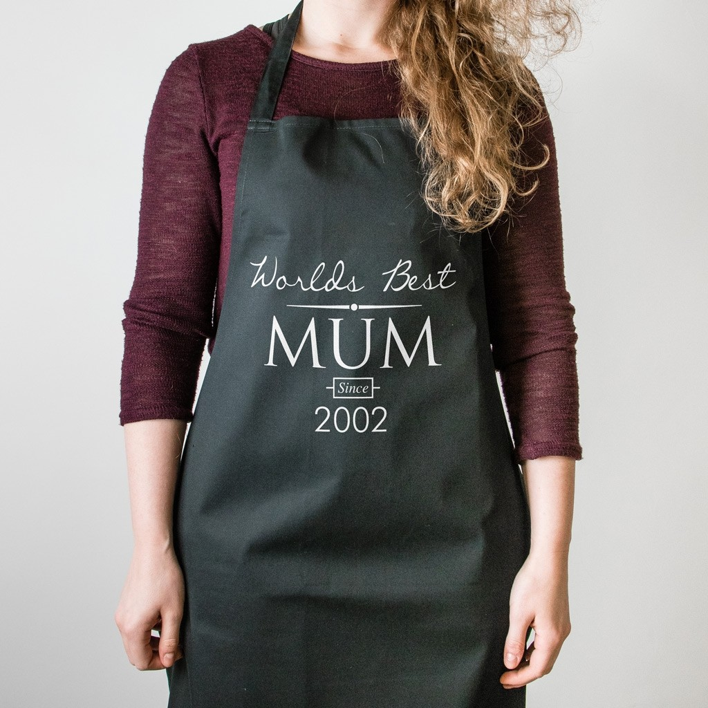 Mother's Day Apron - World's Best Mum