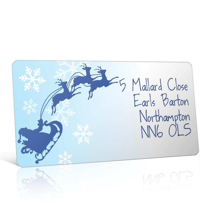Christmas A4 Sheet Labels - Santas Sleigh