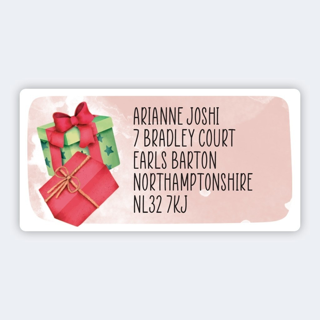 Christmas A4 Sheet Labels - 32x63mm - Presents
