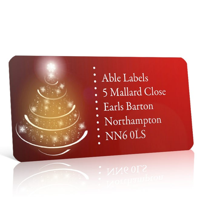 Christmas A4 Sheet Labels - Christmas Tree