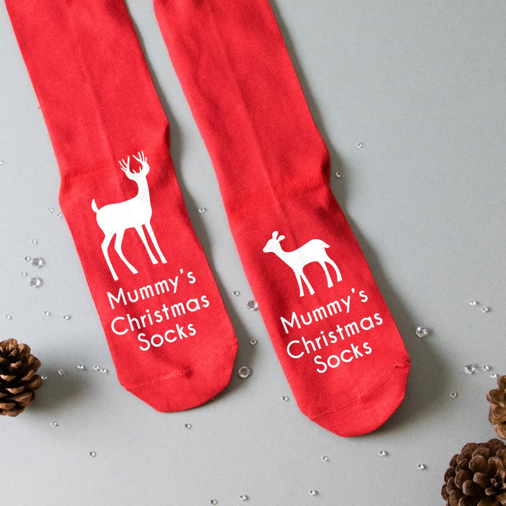 Personalised Christmas Socks - Reindeer and Calf