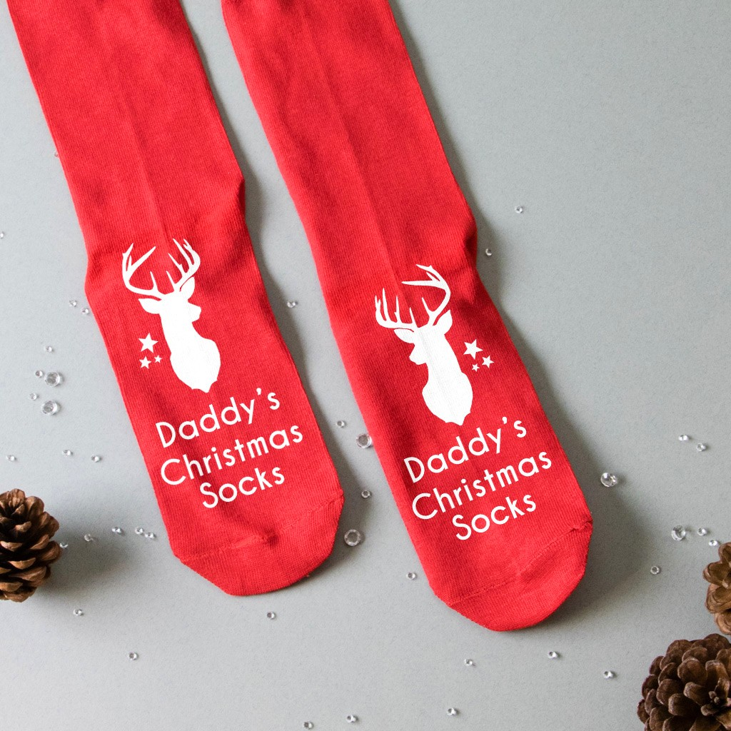 Personalised Christmas Socks - Reindeer Head