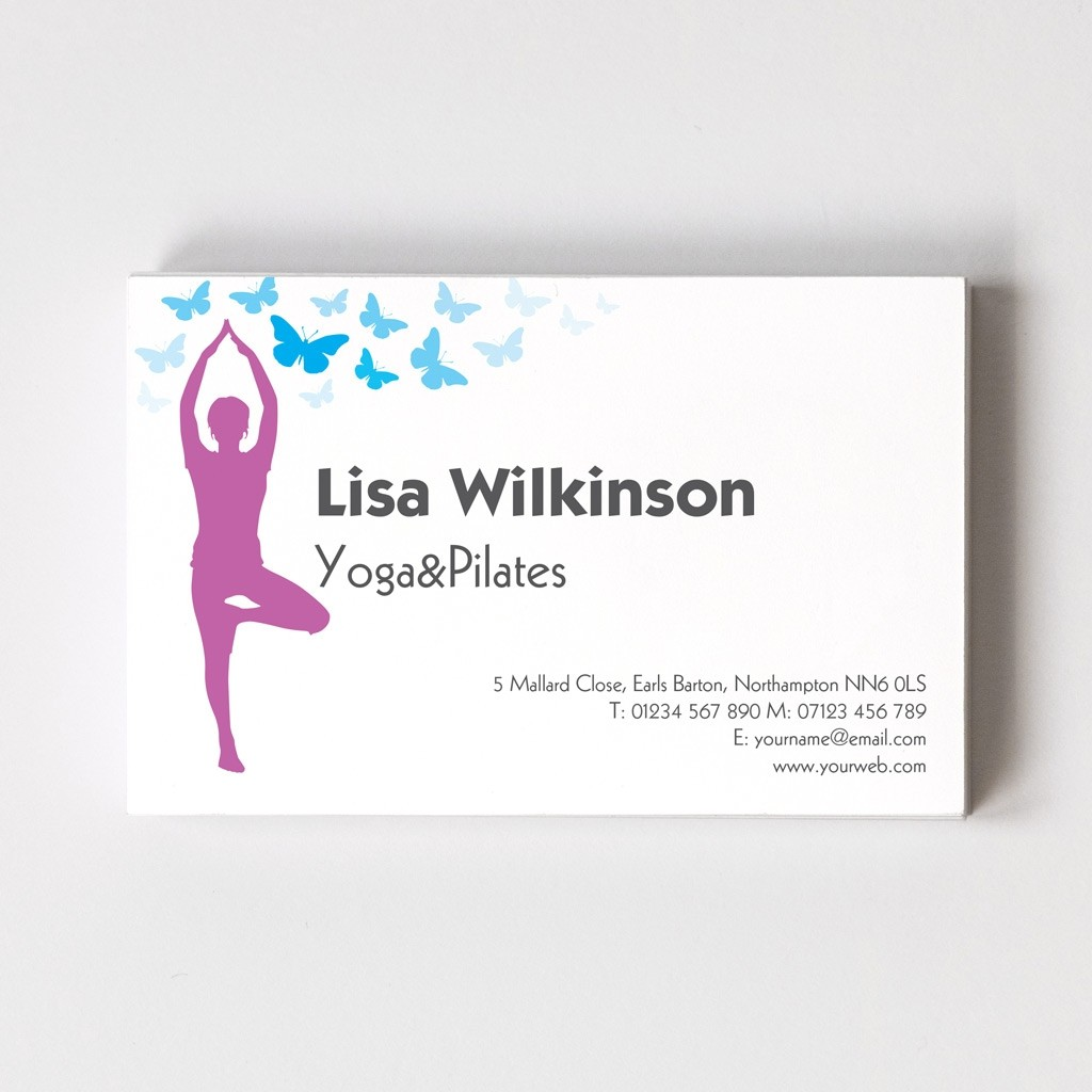 Templated Business Card Yoga/Fitness 2