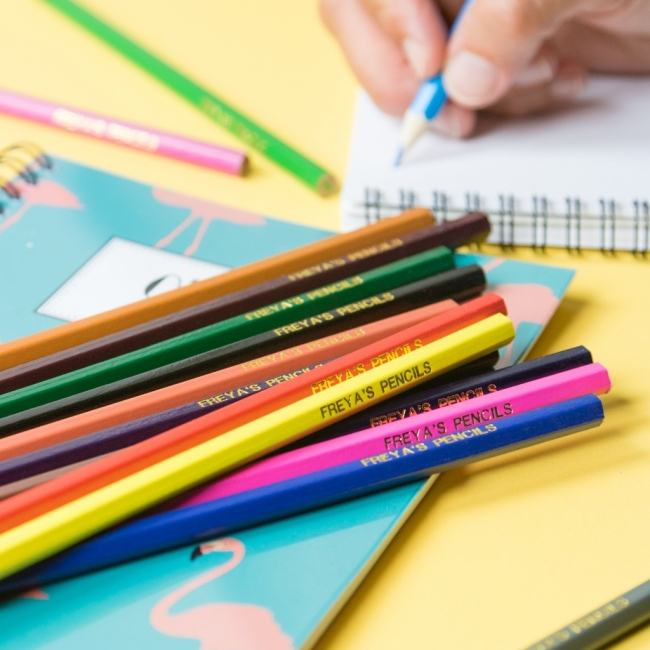 Personalised Colouring Pencils - 16 Pack