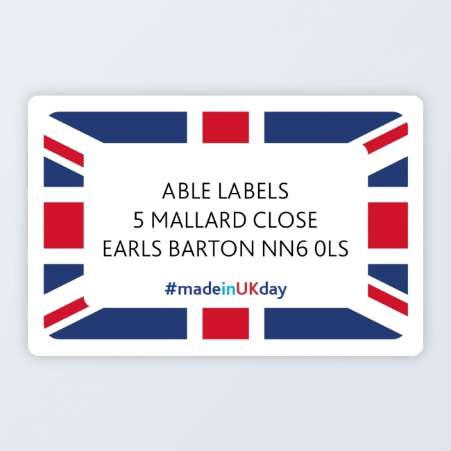 "Roll Address Label 76x50mm (3""x2"") #MadeInUKDay"