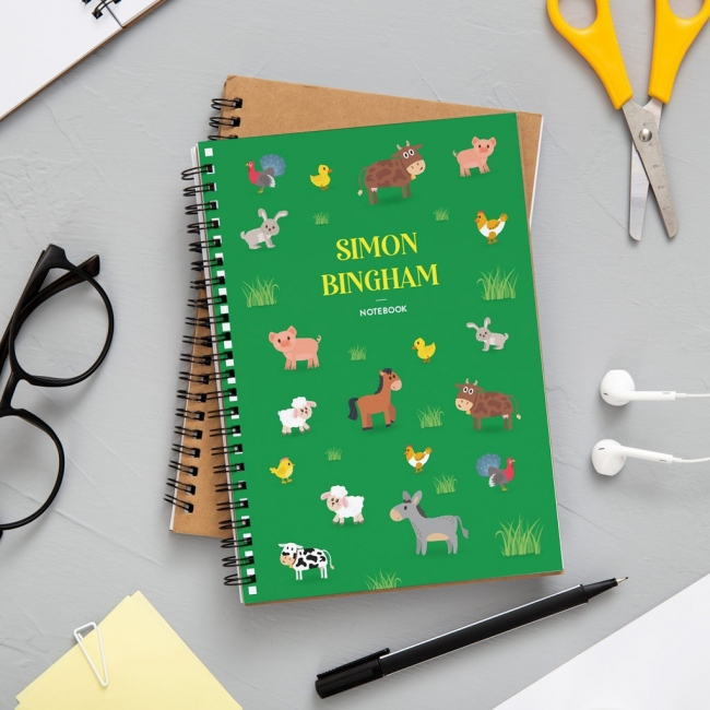 A4 Farm Animals Notebook