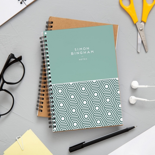 A4 Geometric Notebook