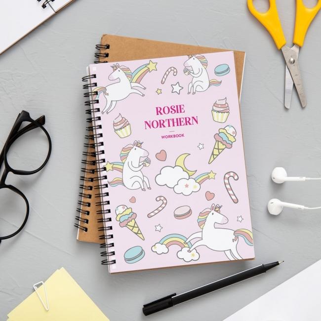 A4 Unicorn Notebook
