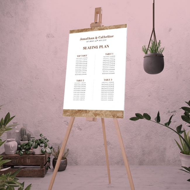 Arizona Personalised Wedding Table Plan