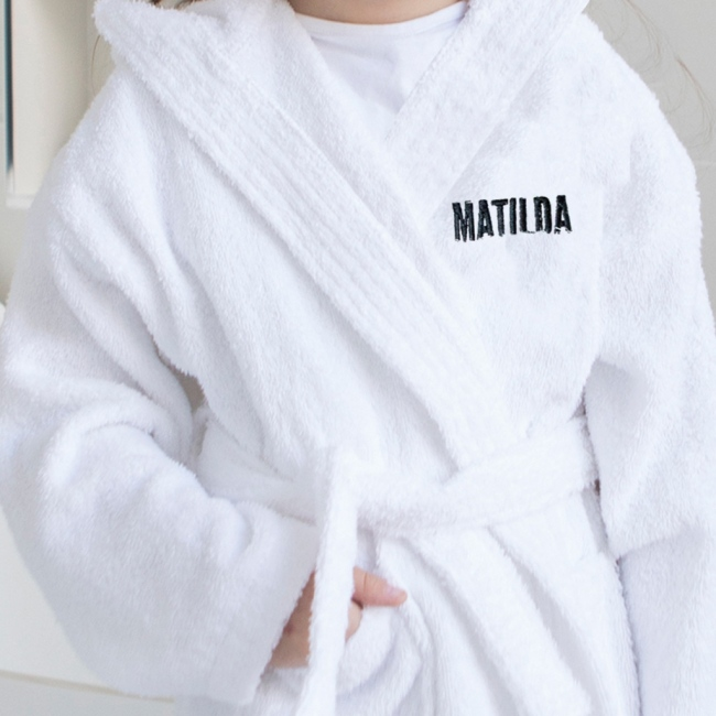 Personalised Super Soft Bath Robe