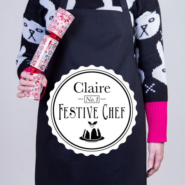 Christmas Personalised Apron - Festive Chef